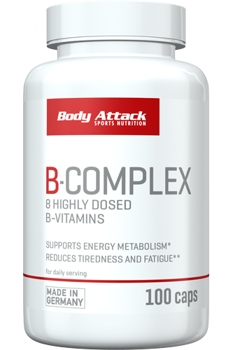 Body Attack Vitamin B Complex 100 Caps