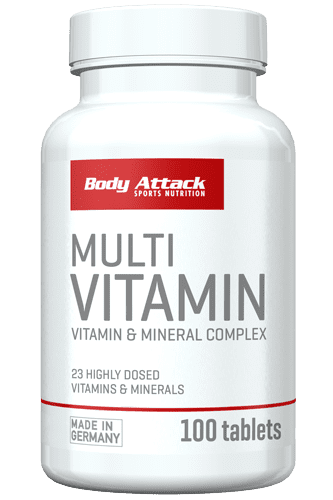Body Attack Multivitamin 100 Tabs