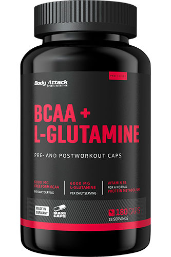Body Attack BCAA + L-GLUTAMINE 12000 180 Caps